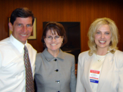 Laura Brotherson with Scott and Angelle Anderson