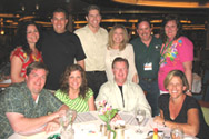 group dinner on cruise