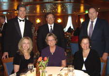 Formal dinner on cruise