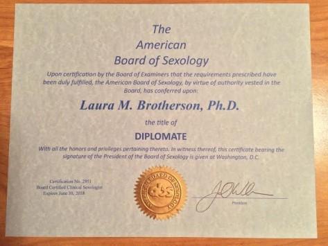 laura certificate